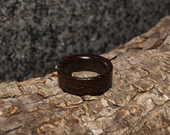 Wooden Ring Size 6 - Wenge wood ring, ready-made ring