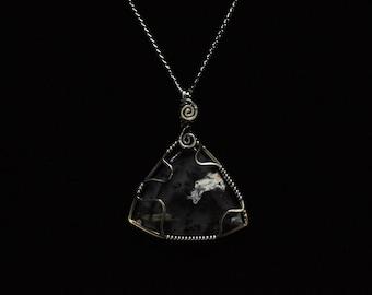Merlinite silver necklace