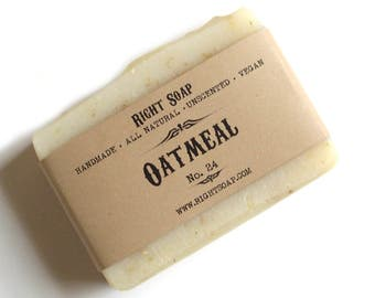 Scrub Soap Oatmeal Exfoliating Body Scrub Soap All Natural Soap Handmade Exfoliating Soap Unscented Soap Vegan Soap Stocking stuffer