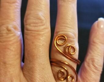 Copper Swirl Ring