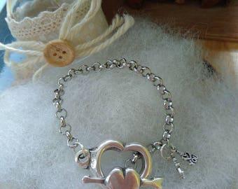 Heart Clasp Bracelet