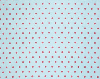 Pink Lulu pwtw0968SKY Cotton Fabric by Tanya Whelan FreeSpirit Lulu Roses Dot