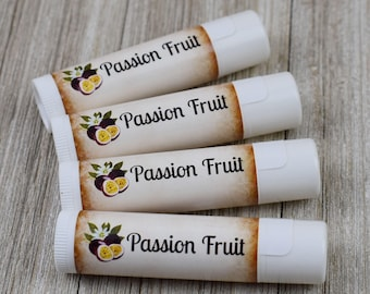 Passion Fruit Flavored Lip Balm - Handmade All Natural Lip Balm