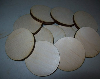 Unfinished Wooden Circles 4 inch tall x 5.2 mm thick, Pack of 25