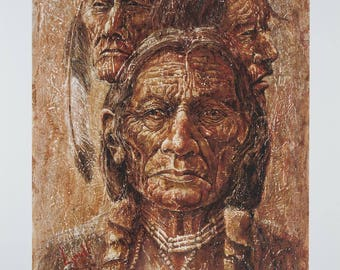 "I WILL LIVE giclee print of original acrylic painting by artist Lynda ""Lyndi"" Leech, 16.75""x21.5"", fundraiser for Pueblo Art Guild"