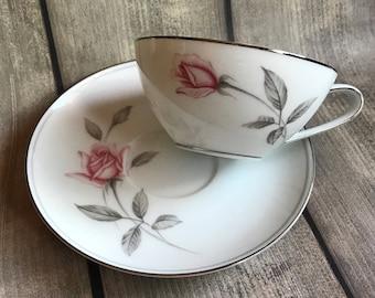 Noritake Rosemarie Teacup and Saucer