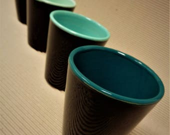 Cups black/turquoise