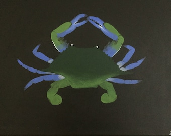 Black canvas- crab