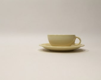 Yellow Vernon Kilns Cup and Saucer ~ Ultra California Cup and Saucer ~ Vernonware Cup and Saucer ~ Vernon Kilns Pottery