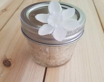 Coconut-Lime Sugar Scrub Organic Body scrub Natural sugar scrub Glass jar