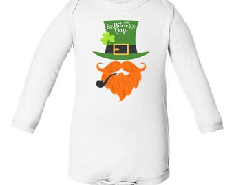 Kids Clothing - St. Patrick's Day - Leprechaun with Red Beard - Gift - Baby Clothing - Adult Clothing