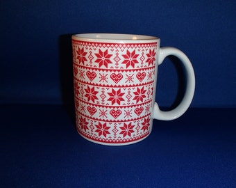 Scandinavian Swedish Norwegian Christmas Nordic Knit Coffee Tea Mug
