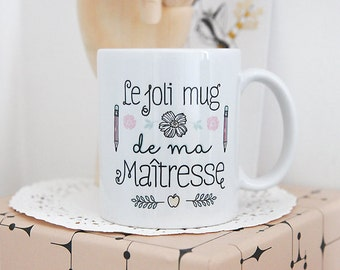 Mug de ma Maîtresse d'école, cadeau maîtresse, cadeau fin d'année, tasse céramique