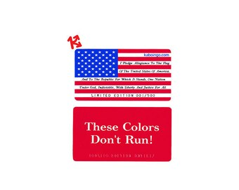 New & Cool Limited Edition Kaboingo Wallet Card USA Patriotic Pledge of Allegiance xxx/500