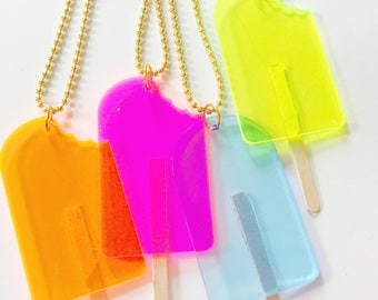 Popsicle Necklace. Ice Cream Necklace. Kids Jewelry. Kids Necklace. Kid Popsicle Necklace. Girls Necklace.  Gift for Girl. Pop Necklace.