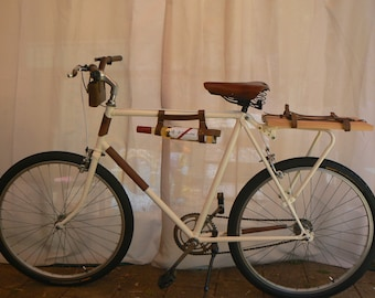 Leather Bicycle Wine Bottle Holder carrier wine Rack