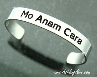 Mo Anam Cara Irish Cuff, My Soul Mate. Irish Jewelry, Irish Cuff, Irish Bracelet,Man or Woman, Irish best friends