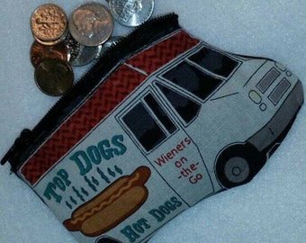 Food Truck Coin Purse, Novelty  Coin Pouch, Food Truck