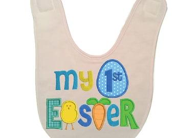 Custom Personalized Easter Baby Bib - Cute Baby Bib - 1st Easter Gift - Easter Gift - Baby Shower Gift - Milestone Gift - Newborn Baby Gift