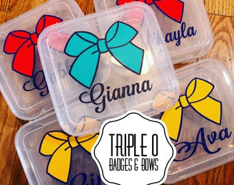Single cheer bow storage box - perfect for your cheer bag!