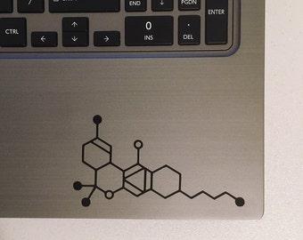 THC Molecule Vinyl Decal Sticker - Cannabis