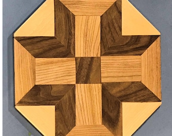 3D wooden wall pattern