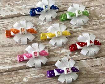 Personalized Girls Hair Bows - Personalized Hair Clips for Girls - Personalized Hair Accessories - Girls Hair Clips - Personalized Girl Gift