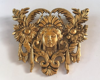 Fantastic Elaborate and Highly Detailed Exotic Edwardian Egyptian Revival Brooch