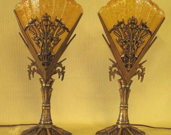 Bronze Dragonfly Mantle Lamps