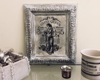 Vintage Gypsy Queen Wall Art - Ready to Hang