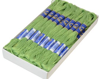 24 Docking Embroidery/Stick twist #6242 Bright LimeGreen