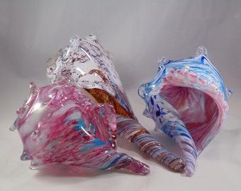 Blown Glass Conch Shell