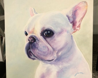 Wilma- french bulldog painting