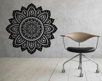 Mandala Wall Decal Flower Mandala Vinyl Sticker Indian Lotus Murals Interior Home Decor (16ma4l)