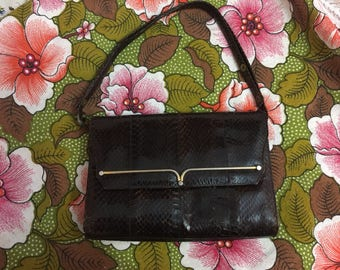 Vintage snake leather purse handbag original