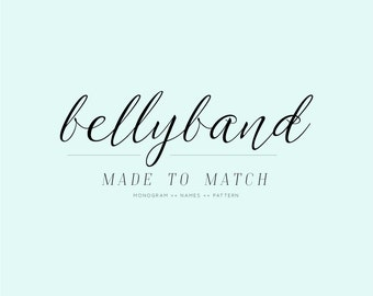 Bellyband Made To Match Any Design | Belly Band Envelope Wrap Add-On