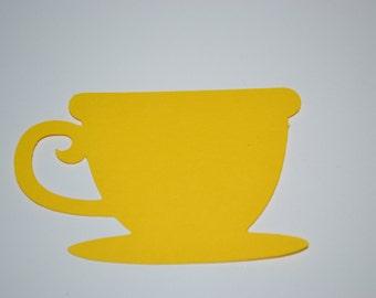 Tea Cup Tag/Tea Cup Tag/Tea Cup/Tea Cup Confetti/Yellow Tea Cup