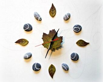 Arte contemporanea Scultura da parete originale Orologio a muro design Decorazione adesiva per amante della natura Regalo per fiorista