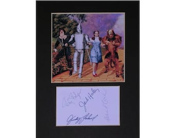Wizard of Oz printed signed autograph 8x6 inch mounted photo print display