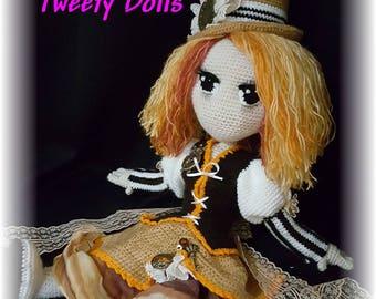 Miss Laétia Fols Tweety dolls, doll crochet tutorial