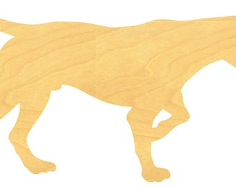 Pointer Dog Wood Cutout Small Sizes Up to 12 Inches  - Shapes for Projects or Other Use