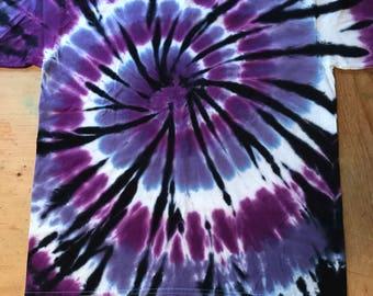 Purple spiral with Black Streaks