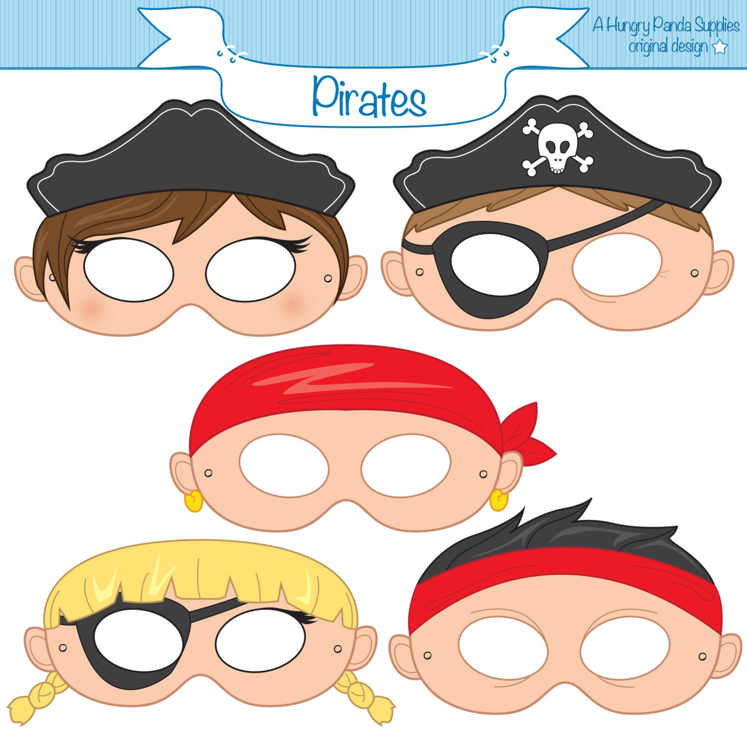 Pirate mask paper masks pirate party ideas party paper zoom pronofoot35fo Gallery