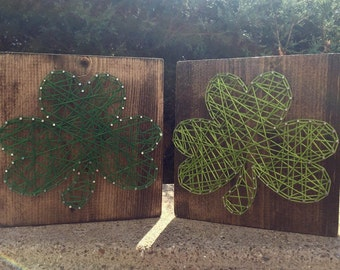Small Shamrock String Art, St Patrick's Day String Art, Irish String Art, Shamrock Home Decor, Shamrock Decor, Irish Decor