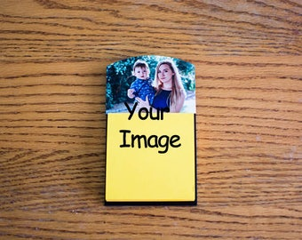 Photo Gifts, Sticky Note holder, Office gift, Personalized Gifts, Custom Printing, Office Decor, Coworker gift