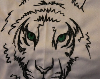Black and White Tiger Apron