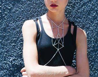 Choker body chain, choker body necklace, thin chain choker, chain thin choker, chain thin choker, necklace choker thin