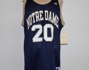 9d4172df94b Vintage Deadstock Notre Dame Fighting Irish NCAA Champion Jersey 44