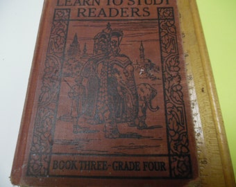 Learn To Study Readers, vintage school book, old school book, school reader