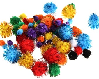 Sparkly colorful pompons DSH(Kdf)
